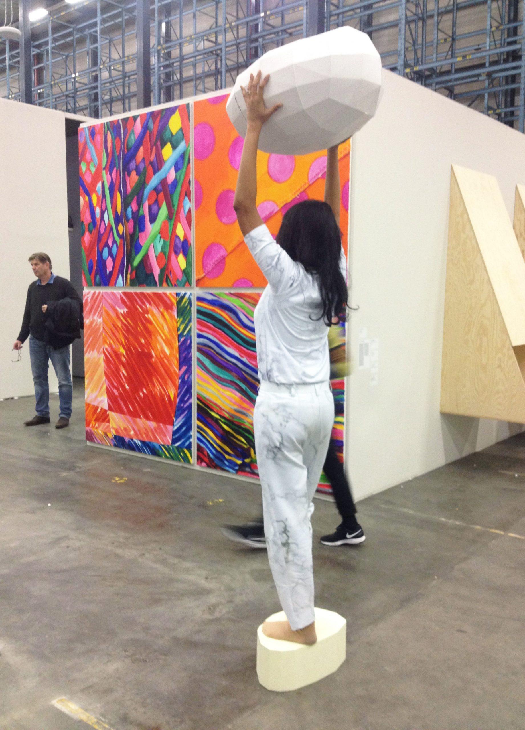Britt Dorenbosch at Prospects & Concepts Art Rotterdam Mondriaan Fonds with Anne Kolbe