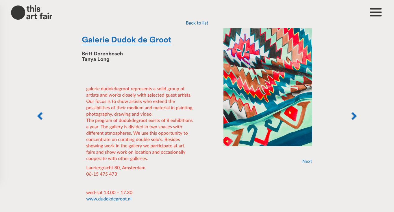 this art fair Britt Dorenbosch Dudokdegroot