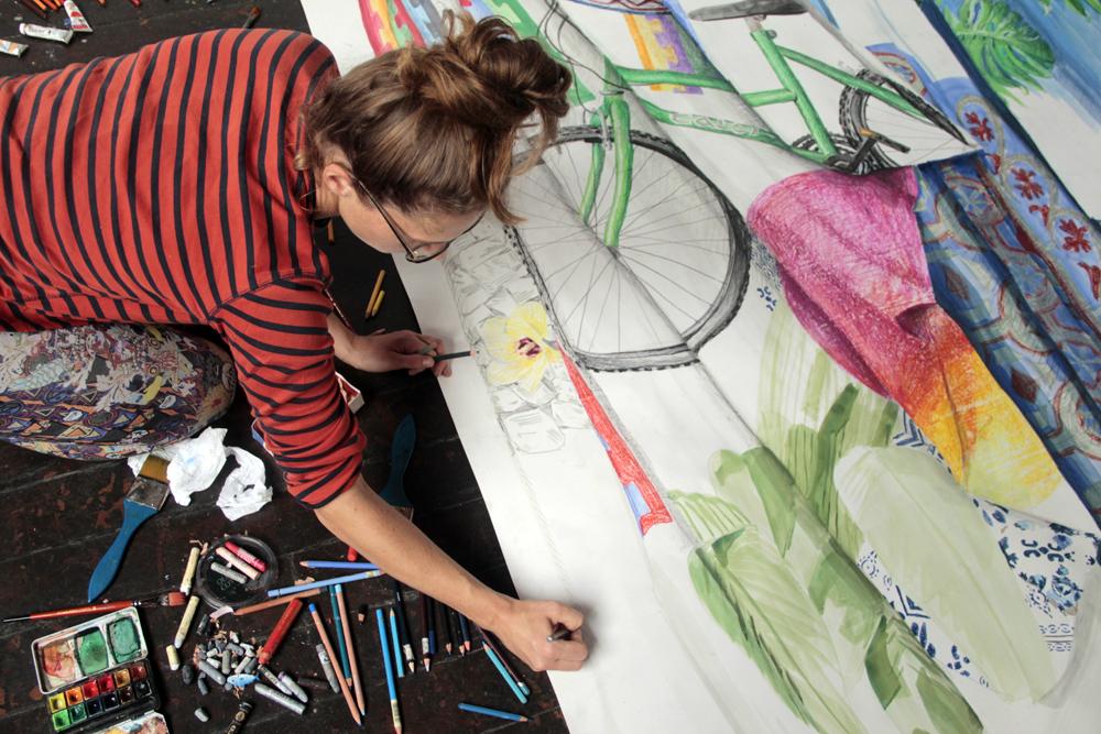 Britt Dorenbosch working at Despina Rio de Janeiro Brasil Bem-Vindo Rio