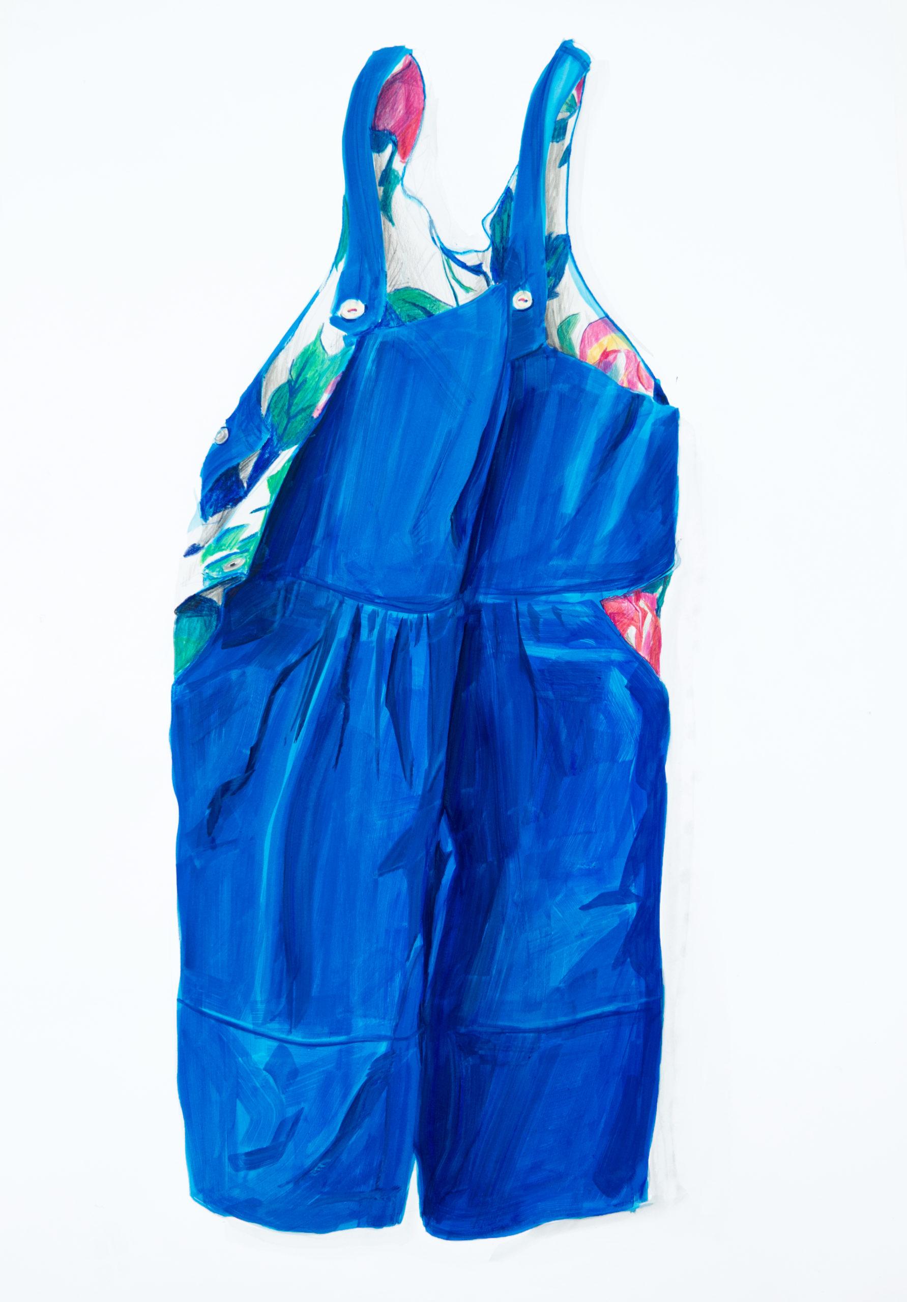 Britt Dorenbosch Mijn kleurenleer tuinbroek broek blauw