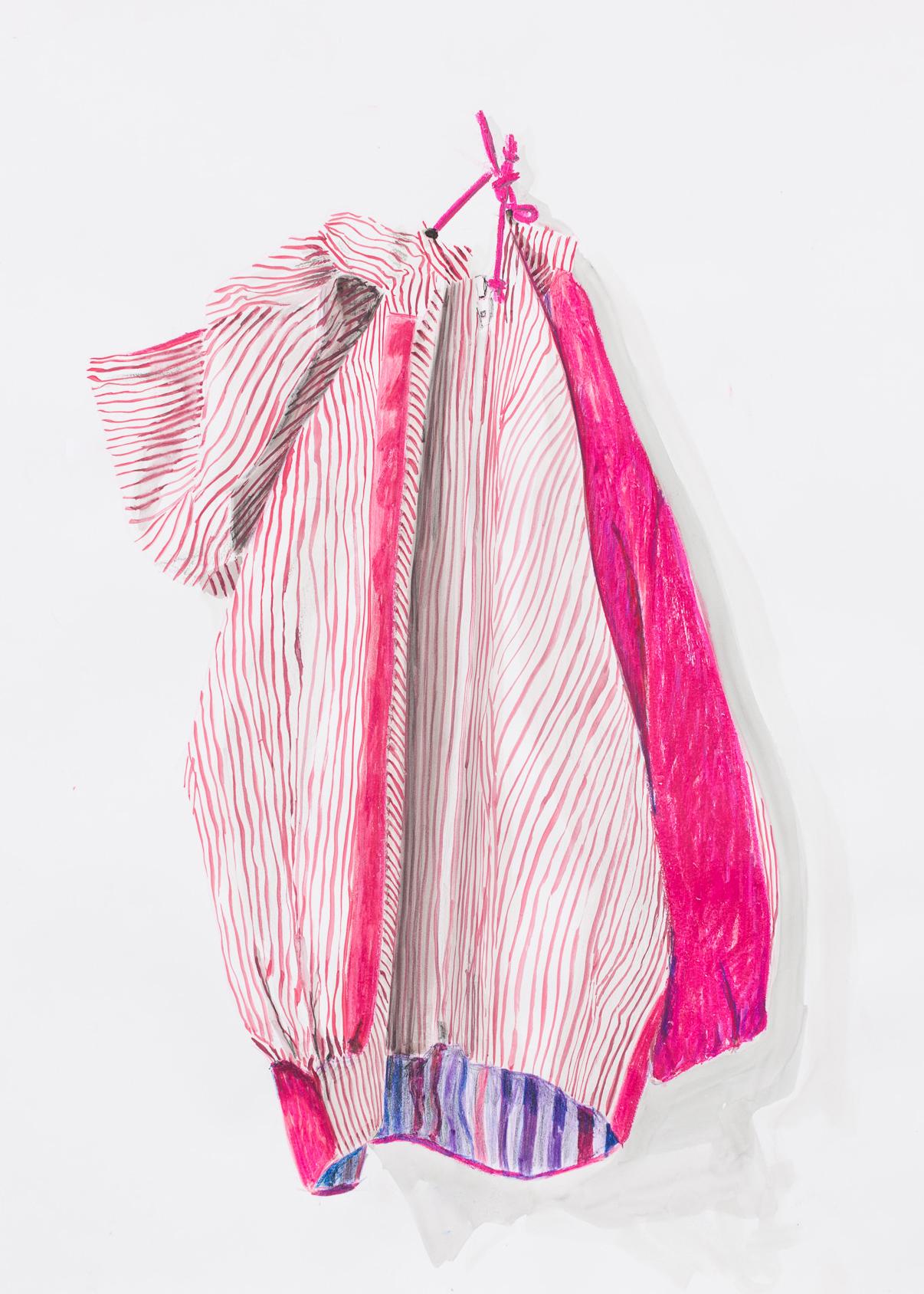 Britt Dorenbosch Mijn kleurenleer kinderkleding jas streepje