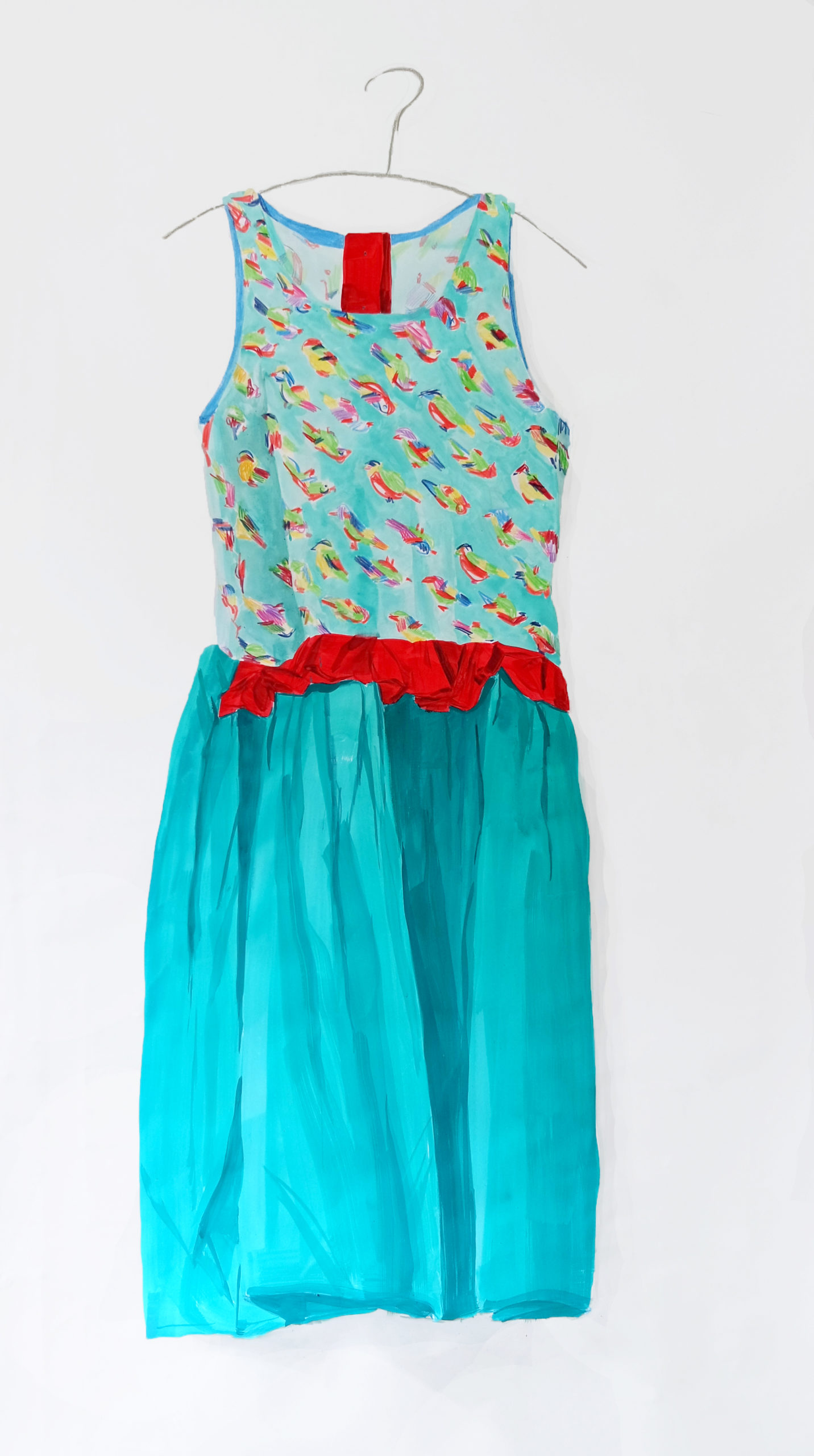Britt Dorenbosch Mijn kleurenleer kinderkleding jurk turqoise